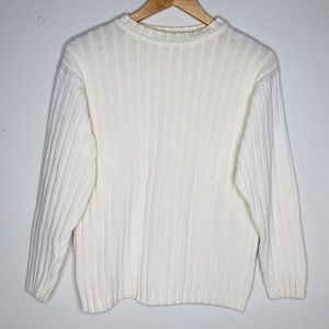 Partners White Knitted Sweater